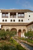 Widok patio De Los angeles Acequia w Palacio Del Generalife, p Obrazy Royalty Free