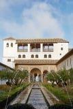 Widok patio De Los angeles Acequia w Palacio Del Generalife, p Fotografia Royalty Free