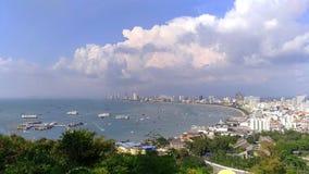 Widok Pattaya miasto w słonecznym dniu Zdjęcia Stock