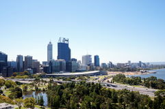 Widok Perth zdjęcia stock