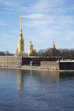 Widok Peter i Paul katedra na wiosna dniu St Petersburg Fotografia Stock