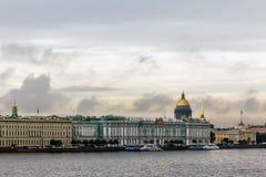 Widok Petersburg od Peter i Paul fortecy Obraz Stock