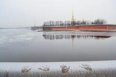Widok Petropavlovskaya forteca w St Petersburg Fotografia Royalty Free