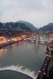 Widok Phoenix miasteczko (Fenghuang antyczny miasto) Zdjęcia Stock