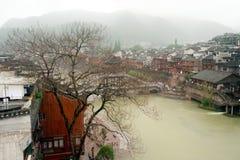 Widok Phoenix miasteczko (Fenghuang antyczny miasto) Obraz Royalty Free