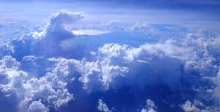 Widok piękna chmura samolot od okno obrazy royalty free