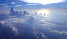 Widok piękna chmura samolot od okno zdjęcie royalty free