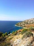 Widok piękna linia brzegowa wyspy brac, Croatia obraz royalty free