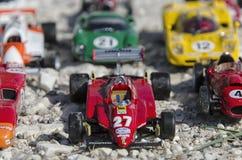 Widok piękni samochody wyścigowi przy słońcem Zdjęcia Stock