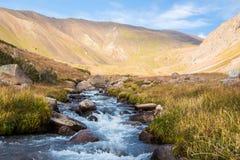 Widok piękna dolina w góry Tien shanie, Kazachstan Fotografia Stock