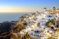 Widok piękna wioska Oia, Santorini, Grecja Obraz Royalty Free