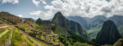 Widok piękne góry blisko Machu Picchu fotografia stock