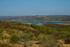 Widok piękny jezioro w Algarve Zdjęcia Royalty Free