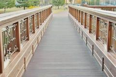 Widok piękny most nad jeziorem Zdjęcie Royalty Free