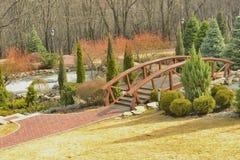 Widok piękny most nad jeziorem Obrazy Stock