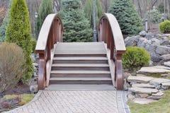 Widok piękny most nad jeziorem Fotografia Royalty Free