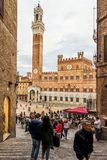 Widok piazza Del Campo Fotografia Royalty Free