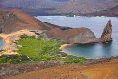 Widok pinakiel skała na Bartolome wyspie, Galapagos obywatela Pa zdjęcia royalty free