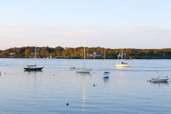 Widok Piscataqua rzeka w Nowym kasztelu, Portsmouth Zdjęcie Royalty Free