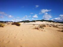 Widok piscyny Wydmowe w Sardinia, naturalna pustynia Obrazy Royalty Free