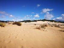 Widok piscyny Wydmowe w Sardinia, naturalna pustynia Zdjęcie Royalty Free