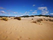Widok piscyny Wydmowe w Sardinia, naturalna pustynia Fotografia Royalty Free