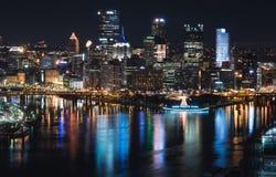 Widok Pittsburgh linia horyzontu od Duquesne przeglądu Obrazy Royalty Free