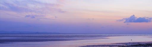 Widok plaża przy niskim przypływem Zdjęcie Royalty Free