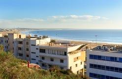 Widok plaża w Agadir mieście, Maroko Zdjęcie Royalty Free