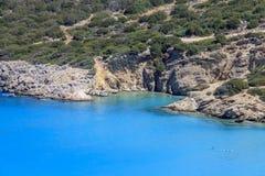 Widok plaża na wyspie Crete Grecja Obrazy Royalty Free