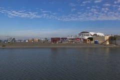 Widok plażowa gwiazda od morskiej staci w Sochi Obrazy Stock