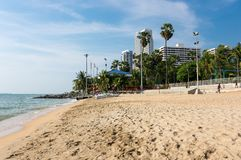 Widok plaża w Pattaya Obraz Stock