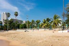Widok plaża w Pattaya Zdjęcie Stock