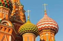 Widok plac czerwony z Vasilevsky spadkiem Zdjęcie Royalty Free