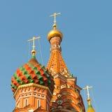 Widok plac czerwony z Vasilevsky spadkiem wewnątrz Fotografia Royalty Free