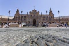 Widok plac De españa w Seville Obrazy Stock