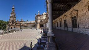 Widok plac De españa w Seville Zdjęcie Royalty Free