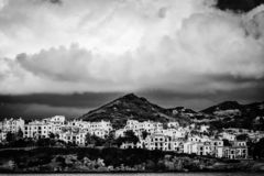 Widok Playas De Fornells zdjęcie royalty free