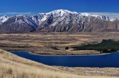 Widok Południowi Alps od Jeziornego Tekapo Zdjęcie Royalty Free