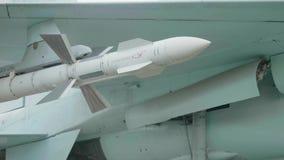 Widok pocisk SU-27 samolotu model zdjęcie wideo