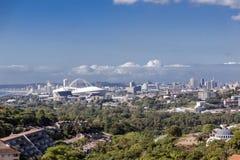 Widok podmiejski krajobrazowy Durban Południowa Afryka i miasto Obraz Stock
