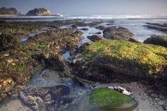 Widok Pok Tunggal plaża Fotografia Stock