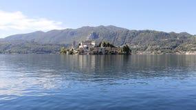 Widok Pokojowy Orta jezioro zdjęcia royalty free