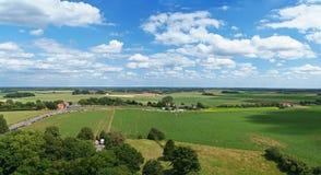 widok pola bitwy pod Waterloo zdjęcie royalty free