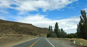 Widok pola od drogi zdjęcie royalty free