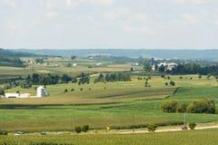 Widok pole w Illinois kraju stronie zdjęcia royalty free