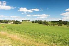 Widok pole w Illinois kraju stronie fotografia royalty free