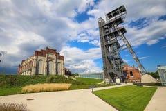Widok Polska, krajobraz, mineshaft w Katowickim,/ obraz stock