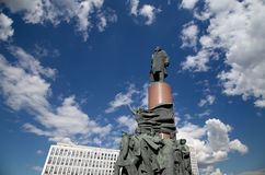Widok pomnikowy ot Vladimir Lenin; Moskwa centrum miasta (Kaluzhskaya kwadrat); Rosja Zdjęcia Stock