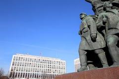Widok pomnikowy ot Vladimir Lenin; Moskwa centrum miasta (Kaluzhskaya kwadrat); Rosja Zdjęcie Royalty Free